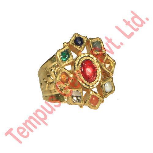 Navratna Stone 22kt gold Ring at Rs piece