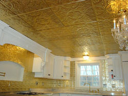Gold Leafing Work On Wall