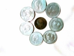 Silver Colour Old Coins