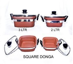 Brown Terracotta Earthenware Mitti Clay Cooking Products