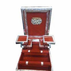 Card Board And Velvet Silver Wooden Bangle Box, Packaging Type: Carton, Shape: Rectangular