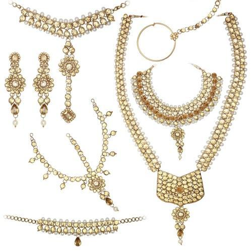 Dulhan Necklace Set With Stone