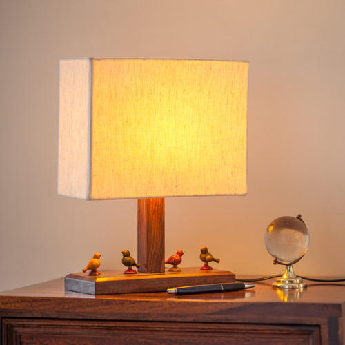 Parrot handcrafted table lamp in sheesham wood lakdi ka table parrot handcrafted table lamp in sheesham wood mozeypictures Images