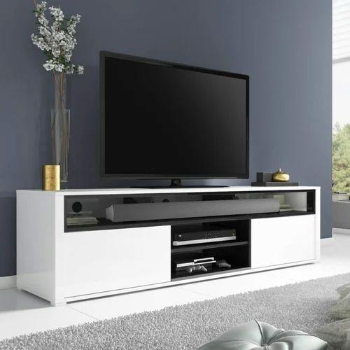d83824a5c3 White Modern Wooden TV Cabinet, Rs 25000 /piece, Satyam Enterprises ...