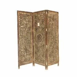 Brown Portable Wooden Screen