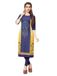 Multicoloured Stitched Kurtis