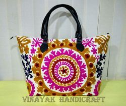 Indian Handmade Embroidered Suzani Bag
