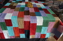 Velvet Patchwork Bed Cover