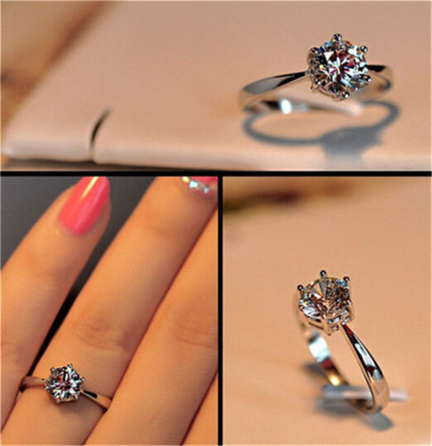 925 Sterling Silver Cubic Zirconia Finger Ring