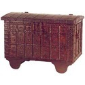 Collectors Corner Teak Ethnic Chest With Brass And Iron Trimmings