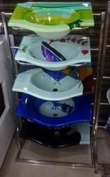 Glass Basin Display Stand
