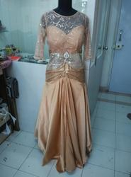 Gold Party Wear Gown