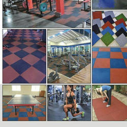 Rubber Flooring Service, For Outdoor