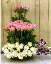 Flower Arrangement Tower Of Flowers