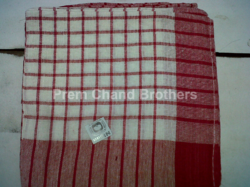 Nipun Red & Brown Cotton Check Duster, Size: 16 Inch /16 Inch