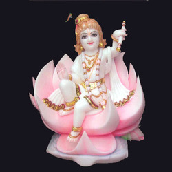 White Painted Bal Gopal Stone Statue, For Worship, Size: 12 To 150 Inch