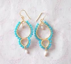 Wire Wrap Jhumka Earrings