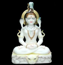 Lord Shiv Marble Statue