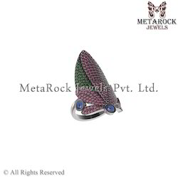 Latest Party Wear Gemstone Ring Jewelry