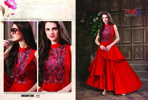 3451850355aa XL Red Party Wear Gown, Rs 810 /bag, Nikhar Dresses | ID: 15254880230