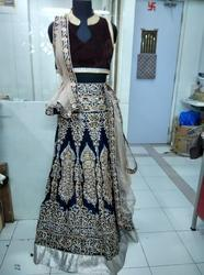 Navy Blue Skirt Designer Lehenga