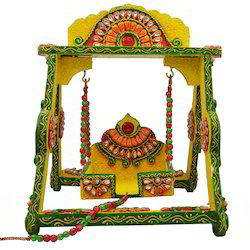 Wooden & Paper Mache Jhula with Kundan Work