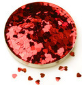 Heart And Star Glitter Powder For Nail Art
