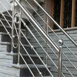 Panel Aluminum Stainless Steel Staircase Railing, Rs 500 /square feet | ID:  12348263430
