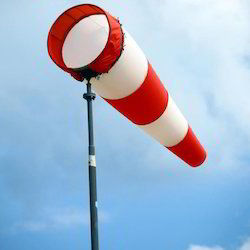 Red and White Wind Indicator