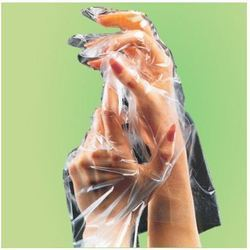 psi disposable plastic glove without paper cover