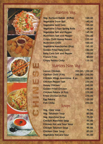 Restaurant Menu Card At Rs  PieceS  T Nagar  Chennai  Id