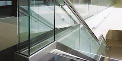 Bar Tempered Glass Railing