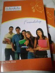 College 200 pgs white book
