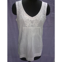 Embroidered Cambric Blouse, Size: 32, 34