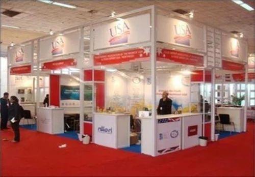 White Exhibition Stall : Maxima stall exhibition service in laxmi nagar new