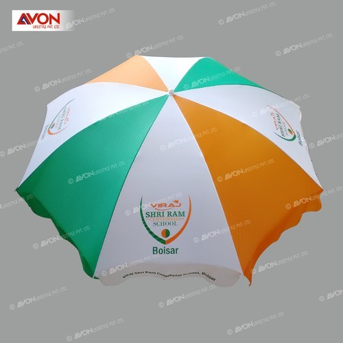Polyester Printed Advertising Patio Umbrella, Size: 42 Inch