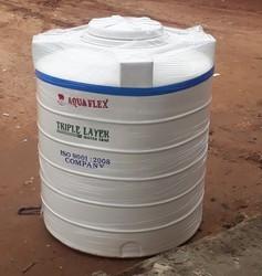 White 1000 Litre Triple Layer Plastic Water Tanks