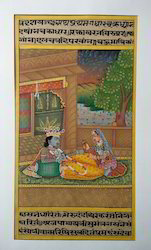Radha Krishna Paper Paintings