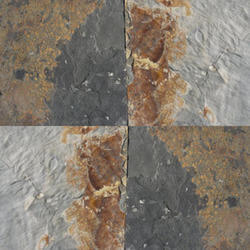 Brown and Gray Slate Stone Tiles, Size: 600 x 600, Thickness: 10-45 mm