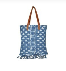 Indigo Cotton Rugs Ladies Bag
