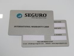 Plastic Warranty Card