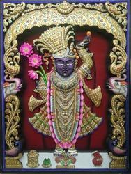 Sreenath Ji Gold Painting