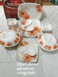 Melamine Dinner Set 32 Pcs, Size: Big