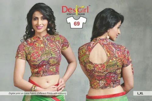 Stretchable Blouse Designer Blouse Authorized Wholesale Dealer From Ichalakaranji