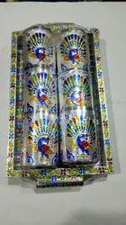 6 Piece Oxidized Glass Set