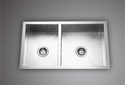 Stainless Steel Ready To Mount Kitchen Sink Double Bowl 34x18x9, For Kichen