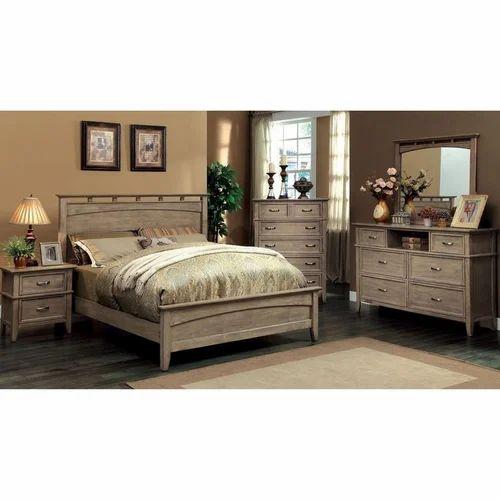 Venus Akecia Wood Bedroom Furniture Set, Weathered Oak Bedroom Furniture