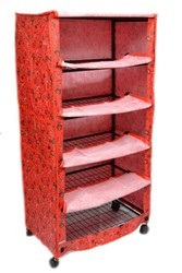 Printed Cover Shoe Rack