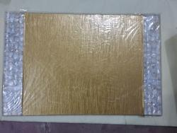 2 Side Mop Mat With Golden Leather