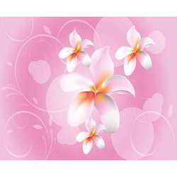 Pink Abstract Flower Wallpaper